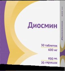 Диосмин, табл. п/о пленочной 600 мг №30